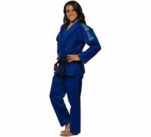 Fuji Womens Women Blossom Brazilian Jiu Jitsu Gi Jiu-Jitsu BJJ - Blue
