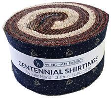 "Windham CENTENNIAL SHIRTINGS Precut 2.5"" Strip Roll Fabric Quilting Strips"