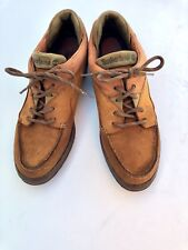 Vtg TIMBERLAND Women's Size 10 Tri Color Mocassin Hiking Boots Nubuck Leather