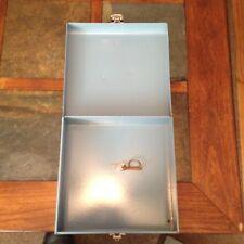 VINTAGE METAL FILE BOX w/ LOCKING KEY BUDDY PRODUCTS FREE U S SHIPPING