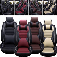 Universal 5-Seats Car Seat Covers w/Pillows Full Set Deluxe Protector Cushion US