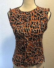 Zara Women Sleeveless Blouse Leopard Print Work Casual Party Size XS