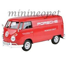 MOTORMAX 79557 VW VOLKSWAGEN TYPE 2 T1 DELIVERY VAN 1/24 PORSCHE SERVICE RED