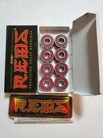 Bones Reds Precision Skateboard Bearings, 2 Sets of 8 (16 bearings pack total)