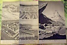 1962 Carte sur la Suisse Paysages Vignobles proche Léman,port sur le Rhin