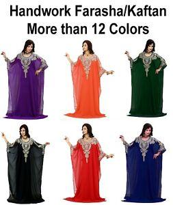 Dubai Style Women Kaftan Caftan Farasha Abaya Maxi Dress Kimono Beach Cover Up J