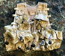 British Army Desert DPM Adjustable Tactical MOLLE Vest webbing with 13 Pouches