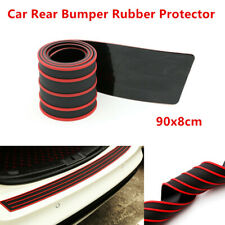 Car Rear Bumper Sill / Protector Rubber Cover Guard Pad Moulding Trim 90x8cm Red