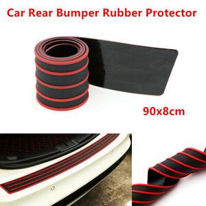 Car Rear Bumper Sill / Protector Rubber Cover Guard Pad Moulding Trim 90x8cm Red