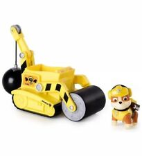 Paw Patrol – Rubble's Steam Roller Construction Vehicle with Rubble Figure New