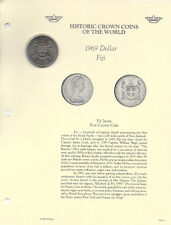Historic Coins of World Elizabeth II Fiji 1 Dollar 1969 BU First Crown Coin