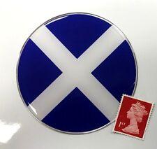 Scottish Saltire Flag Sticker Super Shiny Domed Finish 75mm Diameter Scotland