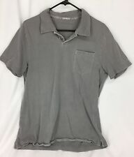 Express Gray Short Sleeve Polo Shirt Boys Size L
