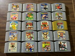 Nintendo 64, N64 LOT: Mario Kart +Smash +Party 1+2+3+ Kirby +Pokemon Stadium 1+2