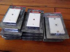 Lot of 12 RadioShack 4-Pin Modular Telephone Plates Gold-Plated Wall Plates