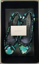 Authentic BURBERRY Printed Silk Lundie Ballerina Ballet Flats Size 6.5 Excellent