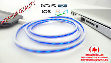 8 pin GLOW led light data sync charger charge power cable for iphone 5 5s 6 6+