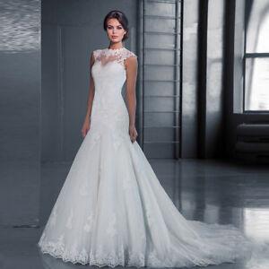 Spitze Mermaid Brautkleid Hochzeitskleid Kleid Braut Babycat collection BC598