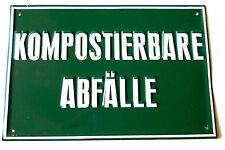 Kompostierbare Abfälle  Hinweisschild,