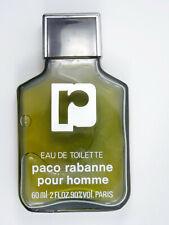 VINTAGE FRANCE PACO RABANNE POUR HOMME EAU DE TOILETTE SPLASH 60ml