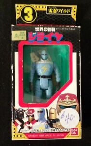 NOS Rare 1988 Bandai Co JIRAIYA FIGURINE No. 3 Package Size 5 1/2 x 2 3/4 Inches
