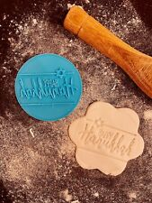 Happy Hanukkah Menorah Fondant and Cookie Icing Press Stamp 3D Printed 6cm