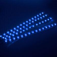4Pcs 15 Bar LED 12V 30cm Car Motor Vehicle Flexible Waterproof Strip Light Blue
