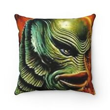 Creature From The Black Lagoon Spun Polyester Square Pillow