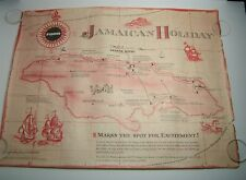 1963 FORD DEALER 17 x 22 POSTER Carribean MAP JAMAICAN HOLIDAY Trip Sales Award