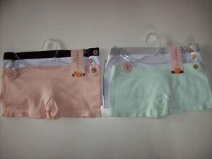 Danskin Underwear Underpants Girls 3 pack Boyshorts Mint Peach New