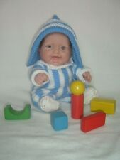 """PATTERN- 5"""", 8"""", 10"""" Berenguer Lil' Cutesies doll's outfit knitting Andy Pandy"""