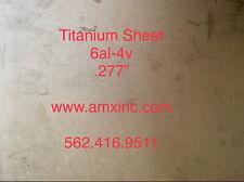Titanium Plate 6al 4v 277 X 12 X 12