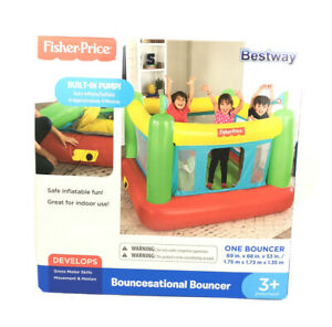 Fisher Price Bouncesational Bouncer Bestway Bounce House w Built In Pump NEW