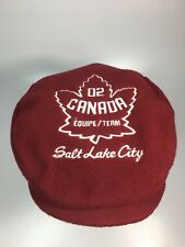 Canada 2002 Winter Olympic games Salt Lake City Official team HAT CAP Opening