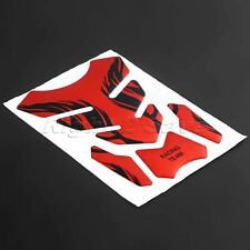 Motorcycle Red New 3D Fish Bone Flame Rubber Fuel Oil Gas Tank Protector Pad