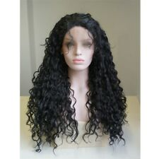 """26"""" Lolita Afro Black Long Curly Fluffy Heat Resistant Anime Lace Front Hair Wig"""