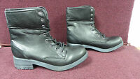 New Womens Union Bay Sparky Plaid Fold Over Boots Size 7.5 Black 110M