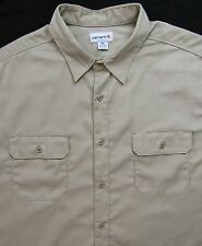 CARHARTT Button-Up Work Shirt ~ 3XL ~ MINT ~ XXXL