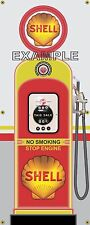 SHELL VINTAGE ANTIQUE RETRO GAS PUMP GAS STATION BANNER GARAGE SIGN ART 2' X 5'