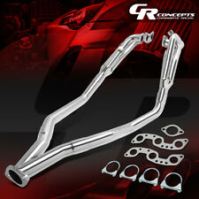 HI-FLOW SHORTY EXHAUST HEADER+Y-PIPE KIT FOR 84-89 NISSAN 300ZX Z31 VG30E 3.0L