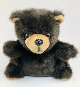 Vintage 1970's Fuzzy Brown Plush Stuffed Teddy Bear by Toyland Made in Israel