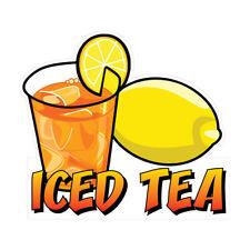 Iced Tea Concession Restaurant Food Truck Die Cut Vinyl Sticker