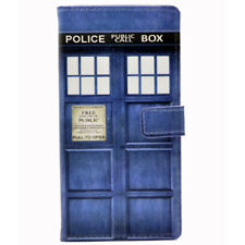Doctor who tardis Police Call Box Leather Wallet Card Case Cover For iphone X