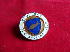 A VINTAGE WEST BAY SEA ANGLING CLUB FISHING BADGE