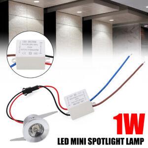 Mini Recessed Spotlight Lamp Cabinet Bulb LED Downlight Ceiling Light 1W/3W