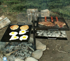 Campfire Cooking Grill Open Fire Fit Camping Patio Outdoor Kitchen Griddle BBQ