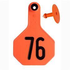 Y-Tex Medium 3-Star Tags Calf/Cow Fade Tear Resistent #76-100 Orange 25ct Pkg