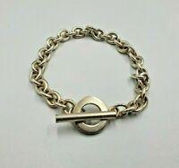 Lovely Sterling Silver T Bar Bracelet, Fully Hallmarked