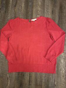 Loft Sweater Knit Fushia Pink Size XL Womens
