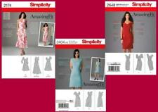 Lot of 3 Simplicity Amazing Fit Sewing Patterns Misses Dress Size  6 8 10 12 14